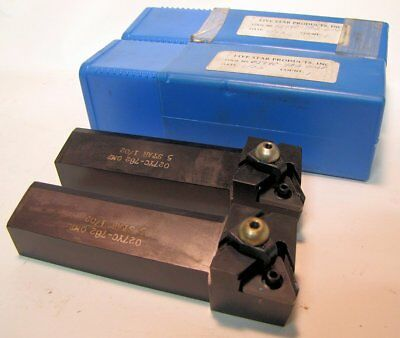 2 Triangle Carbide Insert Turning Tool Holders 5 Star New 027yc-782omp