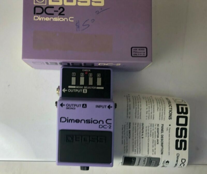 NEW OLD STOCK Boss DC-2 Dimension C Chorus Effects Pedal Vintage 1986