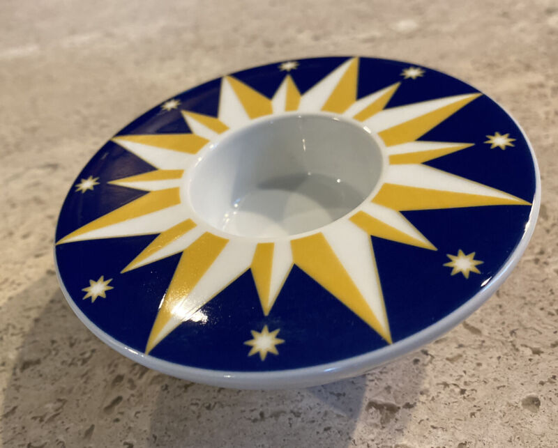 Incense Candle Tea Light Holder by Arzberg Sun Stars Boho Celestial Design GIFT
