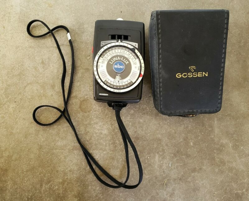 Gossen Luna Lux SBC Light Meter with Battery and Leather Case TESTED