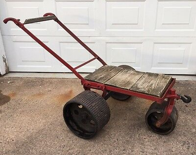 Antique 1920s Hit Miss Engine All Cast Iron Ideal Power Lawn Mower Frame Exc