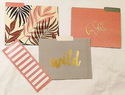 C R Gibson Decorative File Folders 9 Ct Pack Wild Free Cocf-18046 New