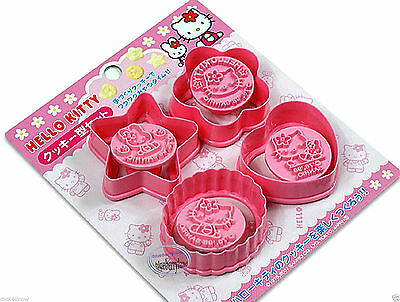 Hello Kitty Party Food (Hello Kitty Cookie MOLD Cutters Stamp Mold cutter Set of 4 kitchen party food)
