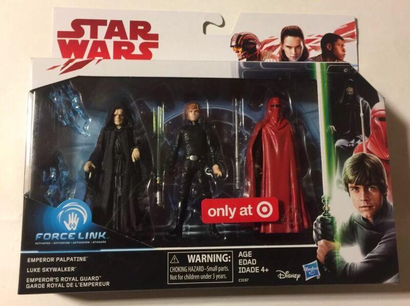 Star Wars Emperor Palpatine Luke Skywalker Royal Guard Target Exclusive Set