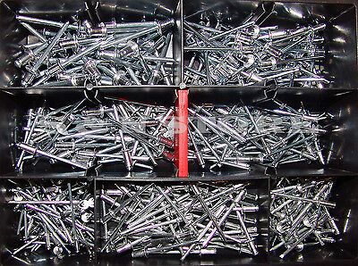 Blindnieten Sortiment Alu/Stahl 400 Teile Set Satz Din 7337  Popnieten