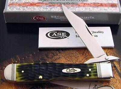 Case Cheetah Knife 2018 Crandall Green Bone & Strike Lined Bolsters Mint AAA+ NR