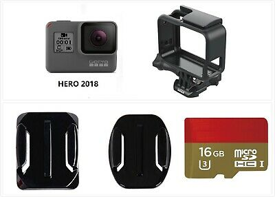 Used GoPro HERO 2018 1440P 1080 Action HD Camera Camcorder w/ Frame 16GB card US