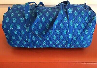 NEW Vera Bradley Large Traveler Duffel Bag Marine Turtles Pattern Foldable Quilt Vera Bradley Duffel Bag