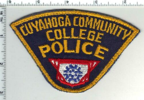 Cuyahoga Community College Police (Ohio) 1st Issue Uniform Take-Off Patch