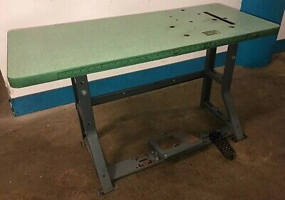 Vintage Singer Industrial Sewing Machine K-leg Table And Top. Our 4