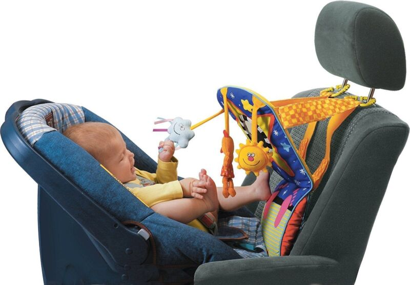 Car Seat Toy with Music, Lights, Mirror & Hanging Toys : Taf Toys