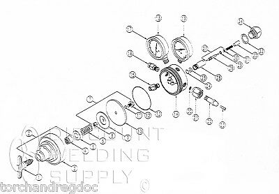 Repair Kit - Uniweld Rv8010 Oxygen Regulator - Internal Parts Rebuild Au8010rk