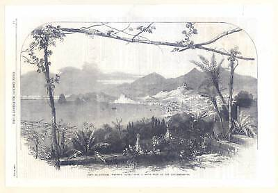 Funchal - Madeira - Portugal - Holzstich 1859