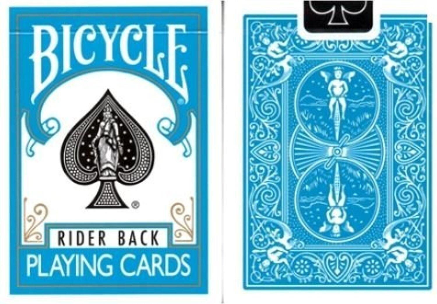 BICYCLE TURQUOISE RIDER BACK DECK OF PLAYING CARDS POKER SIZE MAGIC TRICKS GAMES