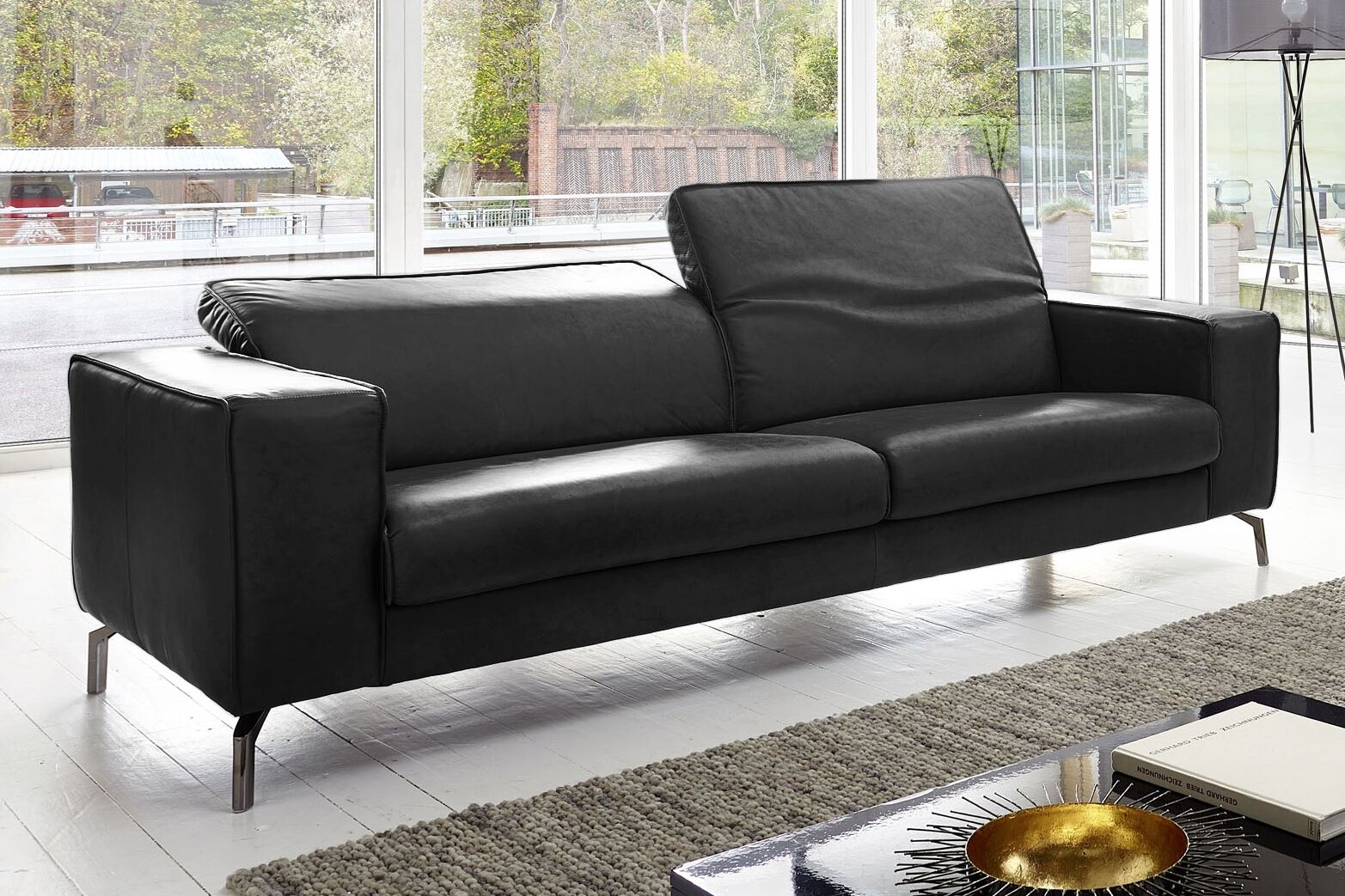 vicenza leder sofa couch garnitur 2er oder 2 5 sitzer oder 3er echt leder neu eur. Black Bedroom Furniture Sets. Home Design Ideas