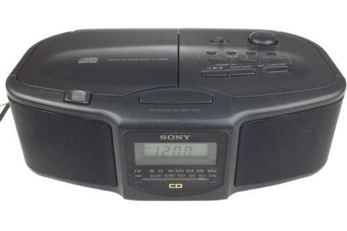 Sony Dream Machine Dual Alarm CD & AM/FM Radio Alarm Clock ICF-CD800 Works Great