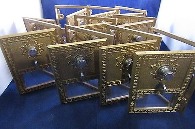 Post Office Box Doors (3 ea WITH COMBINATIONS AND INSTRUCTIONS)