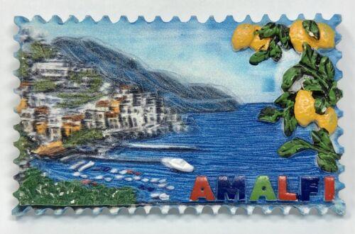 Vintage Amalfi Coast Italy Refrigerator Magnet Gulf of Salerno Travel Keepsake
