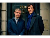 "BBC SHERLOCK Imported 17/"" X 11/"" Print Poster Cumberbatch Holmes and Watson"