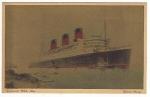 VINTAGE-OCEAN-LINER-CRUISE-SHIP-QUEEN-MARY-CUNARD-WHITE-STAR-LINE