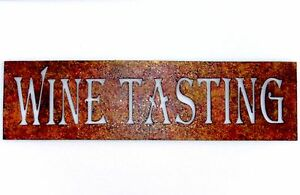 Wine-Tasting-Wine-Sign-Metal-Art-Bar-Cocktail-Vineyard-Wall-Accent-Gift-Spirit