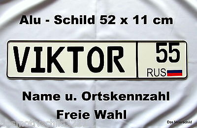 Namensschild,Russisch,Kennzeichen,Namen frei wählbar,LKW,Bus,Truck,Trucker