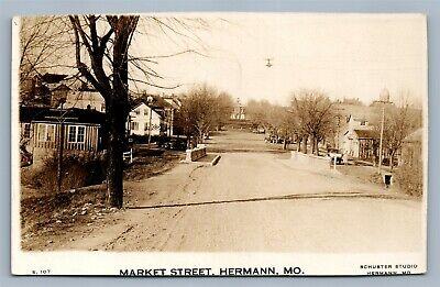 HERMAN MO MARKET STREET ANTIQUE REAL PHOTO POSTCARD RPPC