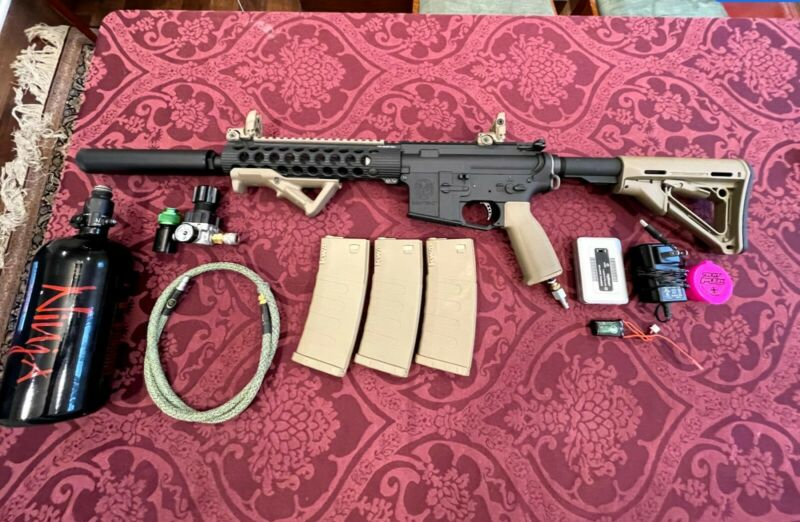 Custom Polarstar Jack Krytac - With HPA Tank and Other Accessories. Full Package