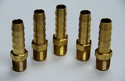 Brass Fittings Brass Male Hose Barb Male Pipe Size 18 Hose Id 516 Qty. 5