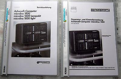 Bedienungsanleitung & Rep.-Servicebuch Beissbarth microline 1800