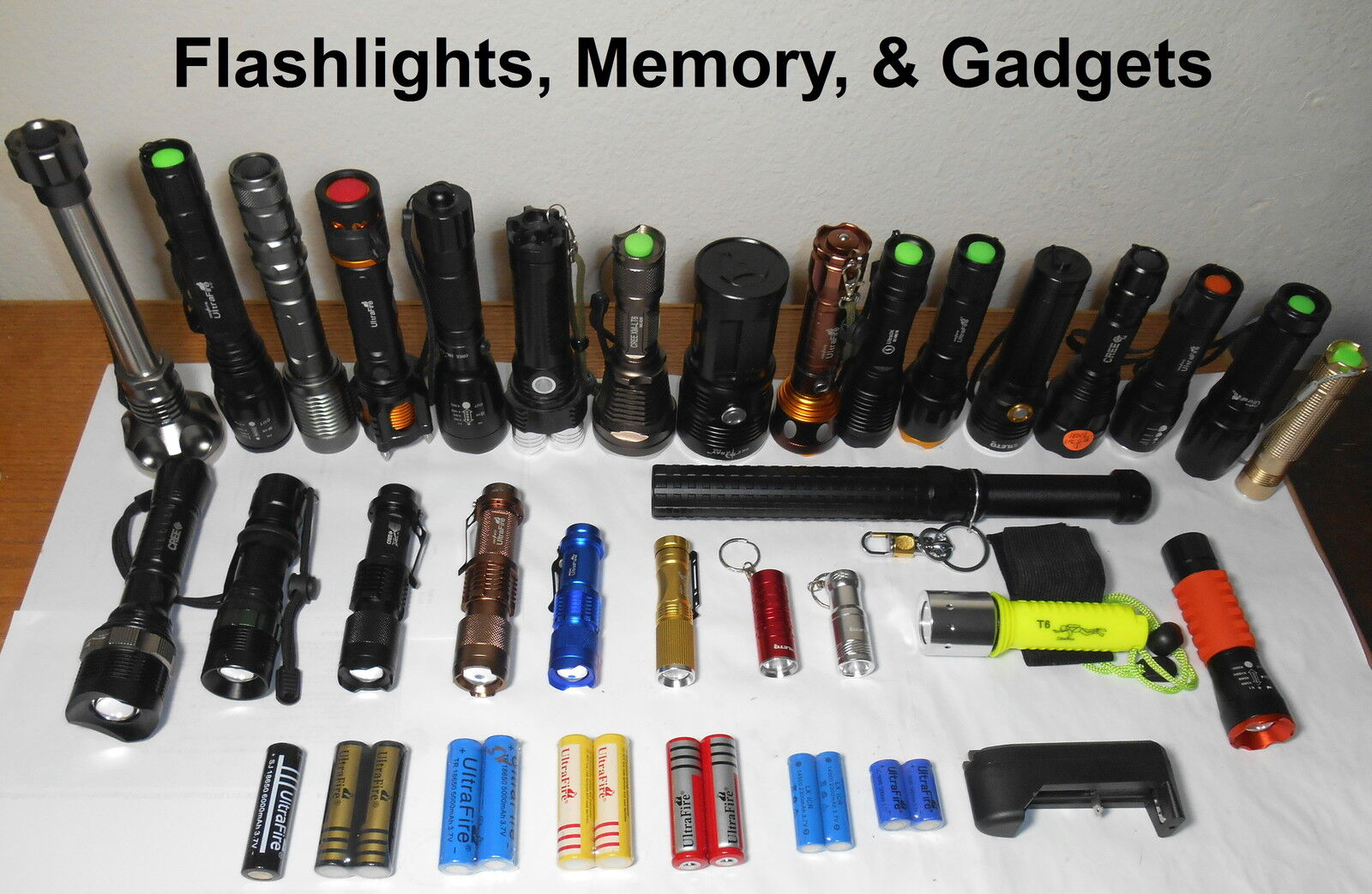 Flashlights, Memory and Gadgets