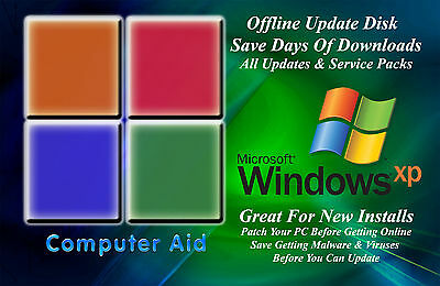 Windows Xp 32 Bit Update Patch Disk   Includes All Sps   All Updates Dvd