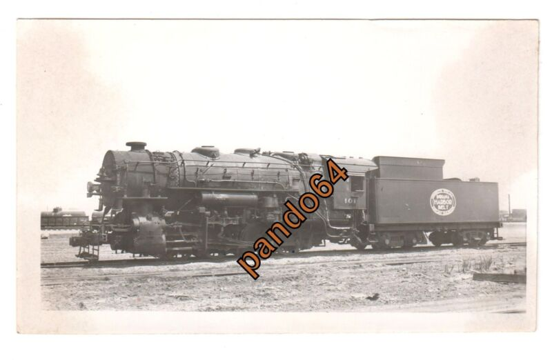 Original B&W Photograph INDIANA HARBOR BELT #101 0-8-0 Steam Loco & Tender TP03