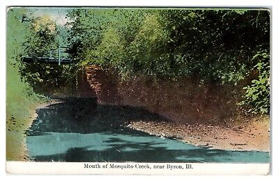 1912 Mouth of Mosquito Creek, near Byron, IL Postcard