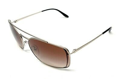 Prada SPR 64V 1AP-6S1 Silver Women's Authentic Sunglasses 62 mm