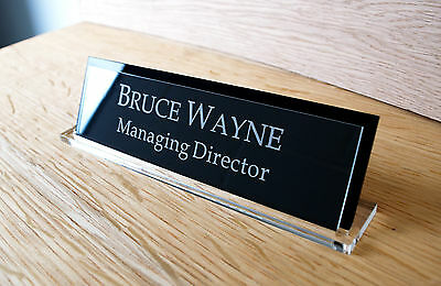 Executive Personalised Desk Namecustom Engraved Signname Plaqueoffice Manager