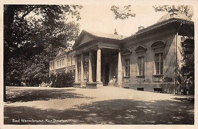 Bad Warmbrunn Kur-Theater Postkarte 1939