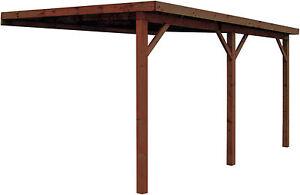 Anbaucarport + Holz Dach 500x400cm 2.Wahl Wand Carport Anlehncarport Überdachung