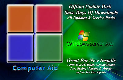 Win Server 2008 32   64 Bit Update Patch Disk   Incs  All Sps   All Updates Dvd