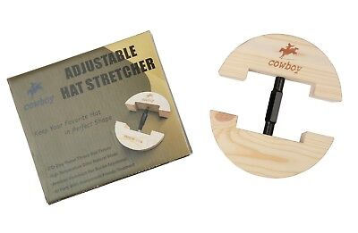 Cowboy Small Hat Stretcher Black Buckle Fits All Hats & Caps for Men and Women