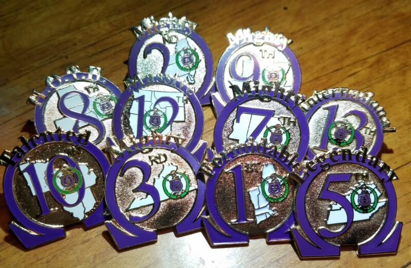 Omega Psi Phi District Pin (1through 13 available...Specify number)