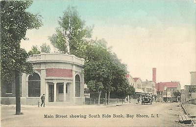 A View Of The South Side Bank  Main Street  Bay Shore  L I  New York Ny 1908