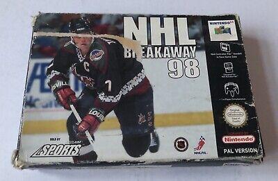 NHL Breakaway 98 Nintendo 64 N64 Complete PAL *READ*