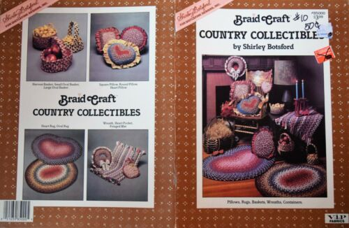 Crochet Braided Rug Rugs Making Instructional Craft Book Baskets Pillows Country