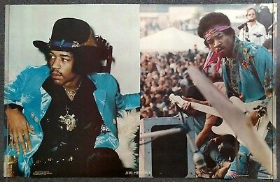 Jimi Hendrix split portrait with hat / on stage 1979 POSTER Scorpio Posters