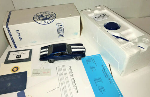1/24 Diecast Franklin Mint 1970 Chevy Chevelle SS 454 w/Box, COA, Tag & papers