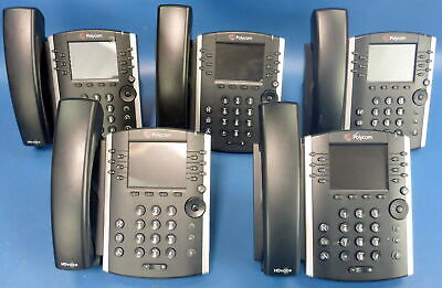 Lot Of 5 Polycom Vvx 410 Voip Office Phone Wring Central App 2201-46162-001