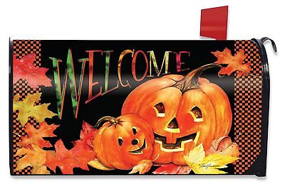 Pumpkin Pals Halloween Magnetic Mailbox Cover Jack o'Lanterns Standard](Halloween Mailbox Covers)