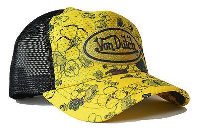 VON van DUTCH MESH TRUCKER BASE CAP [FLOWERS] MÜTZE KAPPE SNAPBACK HUT HAT   Von
