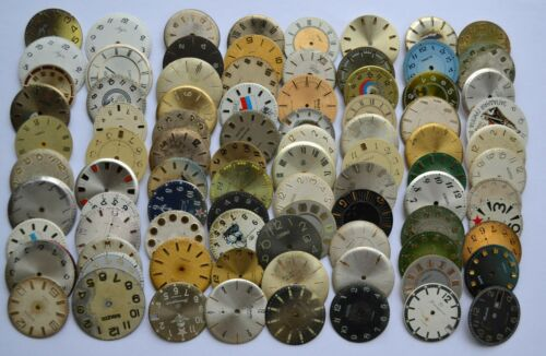 Lot of 88 Wrist Watch Metal  dials for Altered Art, Steampunk WD 003